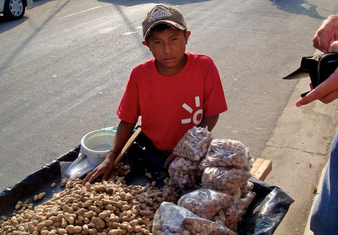 GUA Coban Buying Peanuts