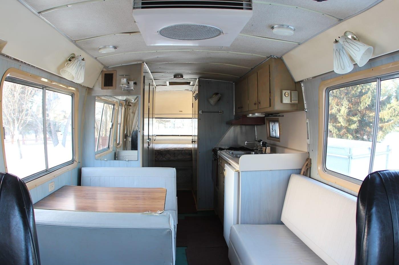 1966 Dodge Travco Interior Before Bumfuzzle
